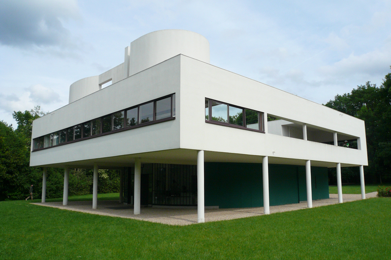 Le corbusier villa savoye poissy 1929 for Finestre a nastro
